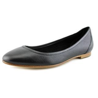 Via Spiga Women's Demetria Black Leather Casual Shoes