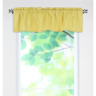 Circa Solid Pina Yellow Linen 53-inch x 15-inch Rod Pocket Curtain Valance