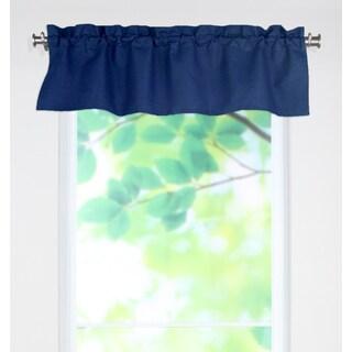 Circa Solid Navy 53x15 Rod Pocket Curtain Valance