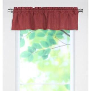 Circa Solid Lava 53x15 Rod Pocket Curtain Valance