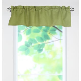 Circa Solid Cactus 53x15 Rod Pocket Curtain Valance