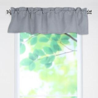 Circa Grey Linen 53-inch x 15-inch Rod Pocket Curtain Valance
