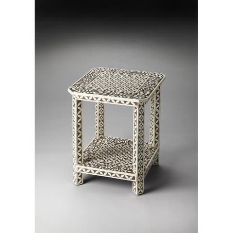 Handmade Butler Bone Inlay End Table (India)