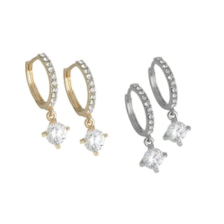 1-carat Cubic Zirconia Drop Earrings