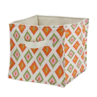 "Carnival Gumdrop Soft Sided Storage Container 11""""h x10.75 with Cream Canvas Handle"
