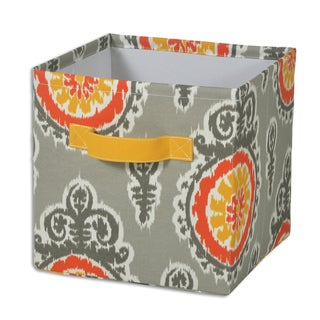"Michelle Citrus 11""""hx10.75"""" Storage Bin with Handle"