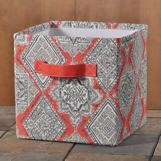 "Milan Indian Coral 11""""hx10.75"""" Storage Bin with Handle"