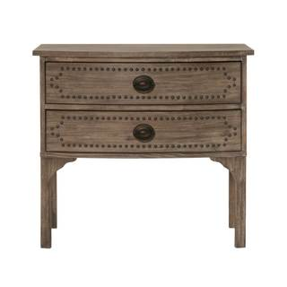 Gray Manor Isabella Grey Acacia, MDF, Wood Nightstand