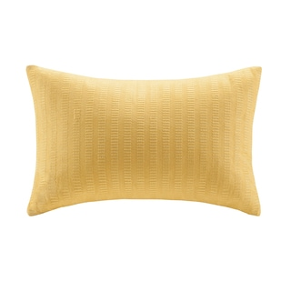 Echo Design Painted Paisley Yellow Cotton Oblong Pillow