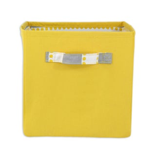 "Solid Corn Yellow 11""""h x 10.75"""" Storage Bin with Handle"