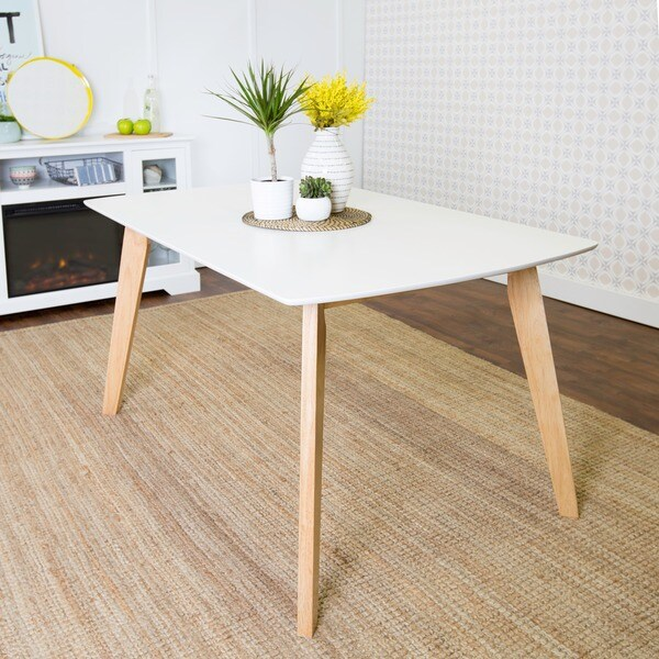 Wood Dining Table For Sale: Shop 60-inch Retro-Modern Wood Dining Table
