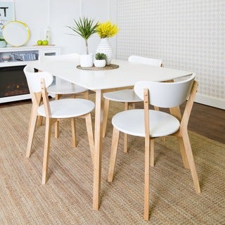 5-Piece Retro Modern Wood Dining Set