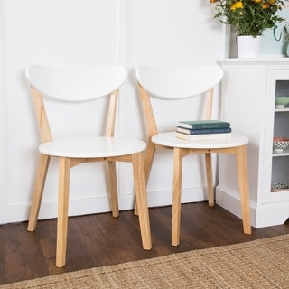 Retro Modern Wood Dining Chairs (Set of 2)