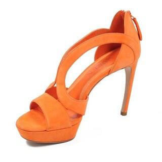 Alexander McQueen Women's Suede Open Toe Heels
