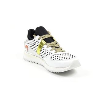 Dolce & Gabbana Women's Nigeria White Polka Dot Sneakers