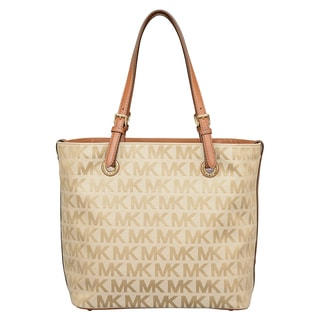 Michael Kors Jet Set Beige/ Camel/ Luggage Grab Tote Bag