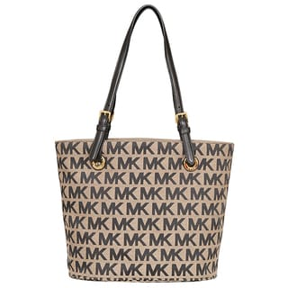 Michael Kors Jet Set Item Beige/ Black Tote Bag