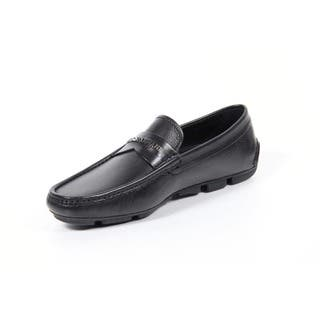 Giorgio Armani Men's Black Leather Mocassins|https://ak1.ostkcdn.com/images/products/12065550/P18934391.jpg?impolicy=medium