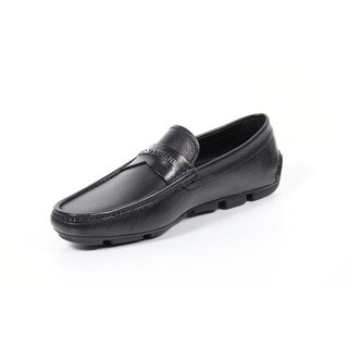 Giorgio Armani Men's Black Leather Mocassins
