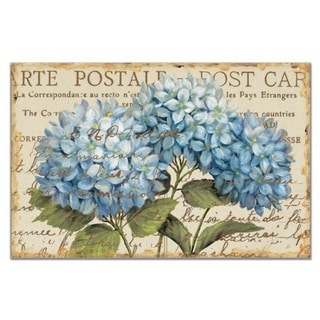 CounterArt Blue Hydrangeas Paper Placemat (Pack of 24)