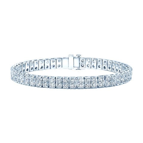 14k White gold 7ct TDW Diamond Tennis Bracelet