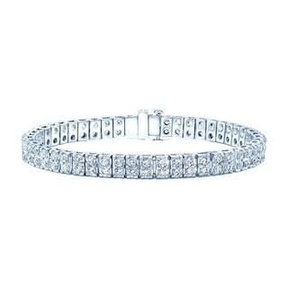 14k White gold 7ct TDW Diamond Tennis Bracelet (H-I, VS1-VS2)