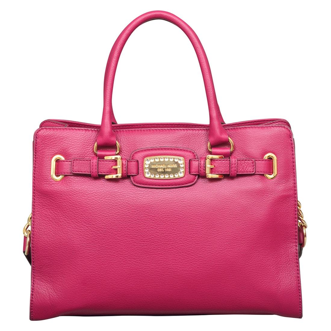 Michael Kors Hamilton Jewel Deep Pink East/West Tote Bag ...