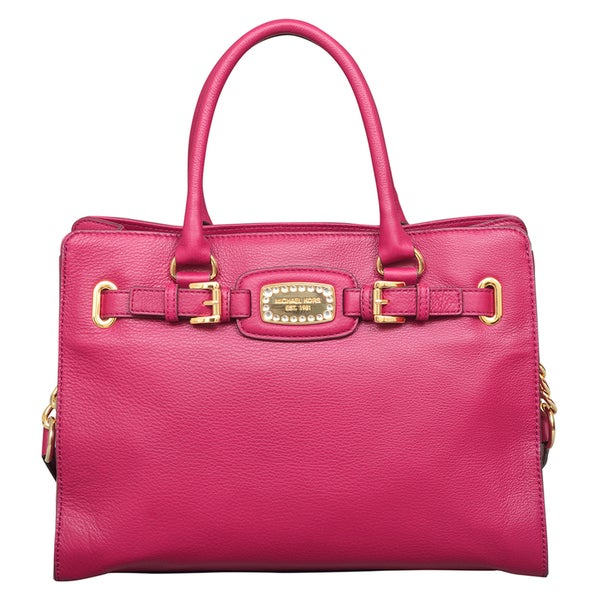 7c4e1ef9d519 Shop Michael Kors Hamilton Jewel Deep Pink East West Tote Bag - Free  Shipping Today - Overstock - 12065575