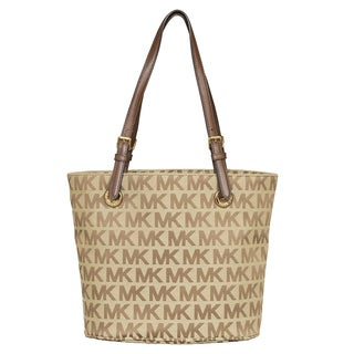 Michael Kors Jet Set Item Beige/ Ebony/ Mocha Tote Bag