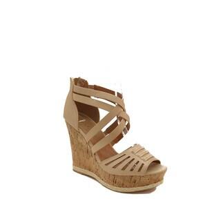 Hadari Women's Crisscross Wedge Sandal