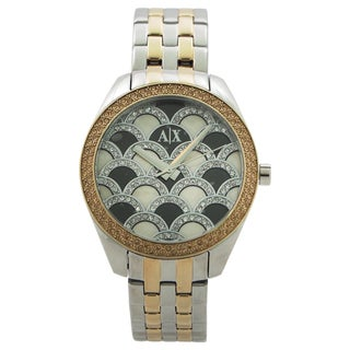 Armani Exchange Women's AX5530 Sarena Analog Display Analog Quartz Two Tone Watch