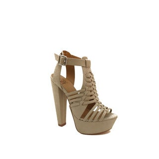 Hadari Women's Strappy Heels Dress Sandal
