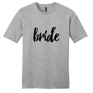 Sweetums Unisex Bride Wedding Grey Cotton T-shirt