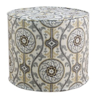 Oh Suzani Brown/Grey Cotton Corded Ottoman