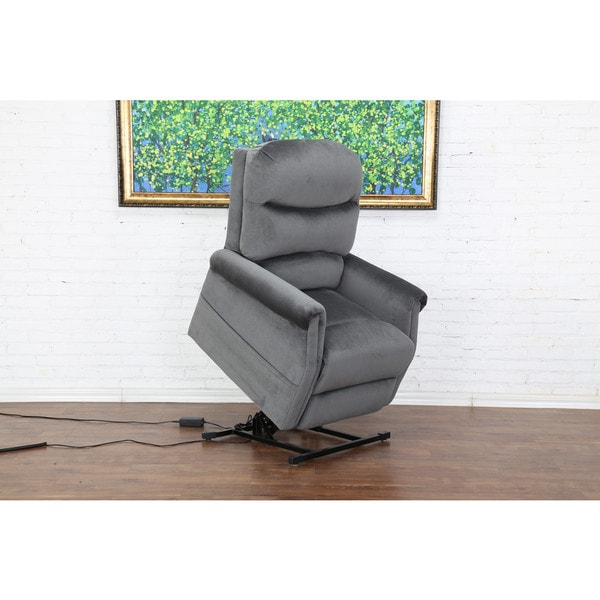 Classic Plush Power Lift Recliner Living Room Chair  sc 1 st  Overstock.com & Classic Plush Power Lift Recliner Living Room Chair - Free ... islam-shia.org