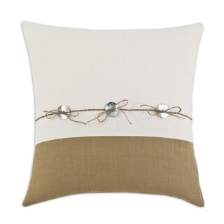 Saxony Barley Button 17-inch Pillow