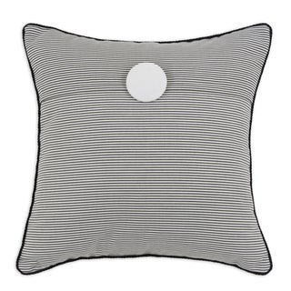 Oxford Charcoal Fold Over with Button 17 x 17 Pillow