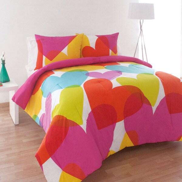 Agatha Ruiz de la Prada Flying Hearts Cotton 3-piece Comforter Set