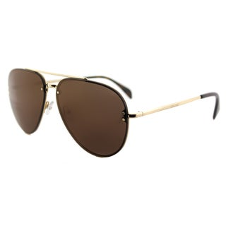 Celine CL 41391 Mirror J5G_LC Gold Metal Aviator Sunglasses Violet Lens