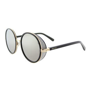 Jimmy Choo JC Andie J7Q Gold And Black Metal Silver Mirror Lens Round Sunglasses|https://ak1.ostkcdn.com/images/products/12065849/P18934640.jpg?impolicy=medium