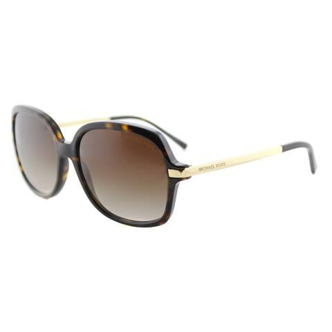 Michael Kors MK 2024 310613 Adrianna II Dark Tortoise Brown Gradient Lens Square Sunglasses