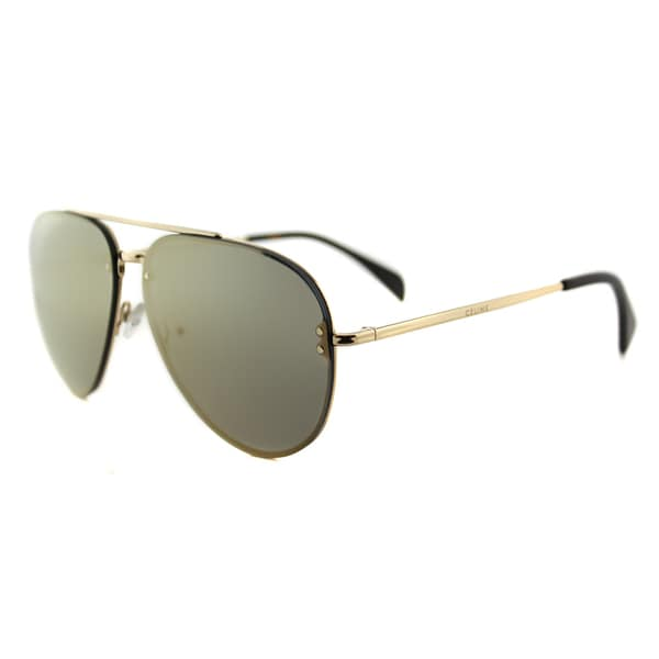 624273b8ab667 Celine CL 41391 Mirror J5G-MV Gold Metal Aviator Sunglasses Bronze Mirror  Lens