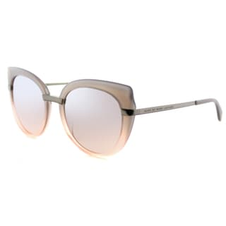 Marc by Marc Jacobs MMJ 489 LQX Grey Peach Plastic Cat-Eye Sunglasses Brown Mirror Lens