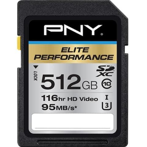 PNY Elite Performance 512 GB Class 10/UHS-I (U3) SDXC