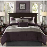 Madison Park Kennedy Plum King Size Comforter Set (As Is Item)
