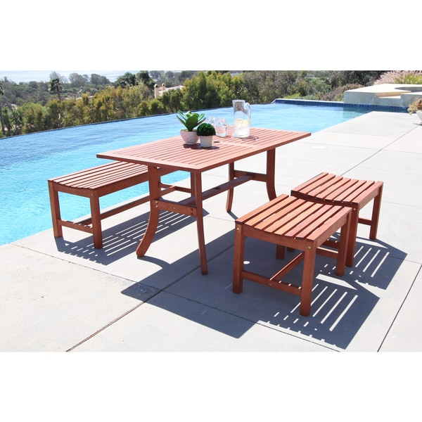 Shop Malibu Eco Friendly 4 Piece Outdoor Hardwood