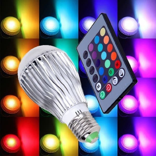Colored Led Lights >> Color Changing Led Light Bulb With Remote Control