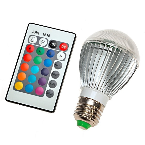 shop color changing led light bulb with remote control on sale free shipping on orders over. Black Bedroom Furniture Sets. Home Design Ideas