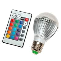Color Changing Plastic Aluminum LED Light Bulb with Remote Control