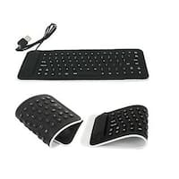 Black Silicone Portable Flexible Keyboard